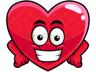 Grinning heart emoticon. PNG - JPG and vector EPS file formats (infinitely scalable). Image isolated on transparent background.