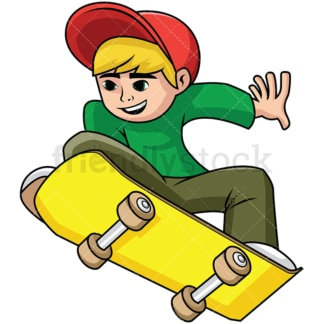 Teenager skateboard jump. PNG - JPG and vector EPS file formats (infinitely scalable). Image isolated on transparent background.