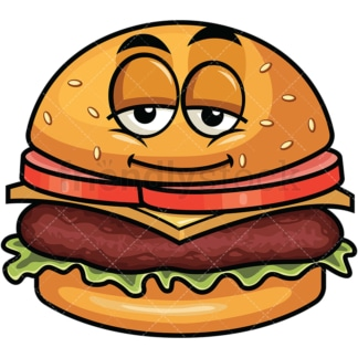 Sleepy hamburger emoticon. PNG - JPG and vector EPS file formats (infinitely scalable). Image isolated on transparent background.