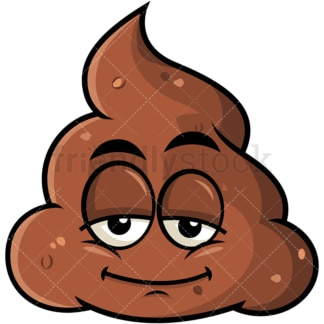 Sleepy poop emoticon. PNG - JPG and vector EPS file formats (infinitely scalable). Image isolated on transparent background.