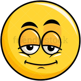 Sleepy yellow smiley emoticon. PNG - JPG and vector EPS file formats (infinitely scalable). Image isolated on transparent background.