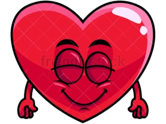 Delighted heart emoticon. PNG - JPG and vector EPS file formats (infinitely scalable). Image isolated on transparent background.
