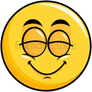 Delighted yellow smiley emoticon. PNG - JPG and vector EPS file formats (infinitely scalable). Image isolated on transparent background.