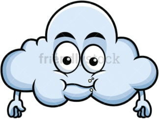 Chewing cloud emoticon. PNG - JPG and vector EPS file formats (infinitely scalable). Image isolated on transparent background.