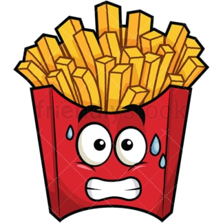 chewing french fries emoji cartoon vector clipart friendlystock rh friendlystock com french fries clipart black and white french fries clipart