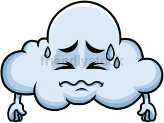 In Pain Cloud Emoticon. PNG - JPG and vector EPS file formats (infinitely scalable). Image isolated on transparent background.