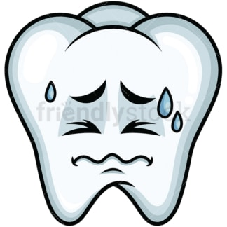 In Pain Tooth Emoticon. PNG - JPG and vector EPS file formats (infinitely scalable). Image isolated on transparent background.