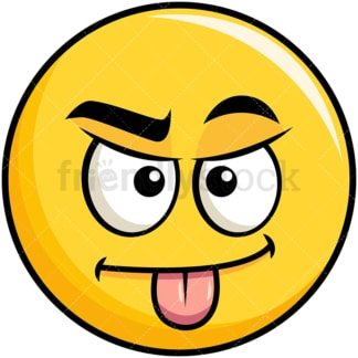 Sarcastic yellow smiley emoticon. PNG - JPG and vector EPS file formats (infinitely scalable). Image isolated on transparent background.