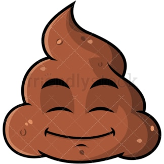 Happy looking poop emoticon. PNG - JPG and vector EPS file formats (infinitely scalable). Image isolated on transparent background.