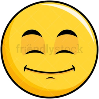 Happy looking yellow smiley emoticon. PNG - JPG and vector EPS file formats (infinitely scalable). Image isolated on transparent background.
