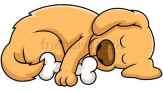 Sleeping dog. PNG - JPG and vector EPS file formats (infinitely scalable). Image isolated on transparent background.