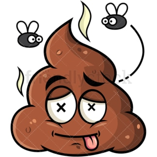 Smelly poop emoticon. PNG - JPG and vector EPS file formats (infinitely scalable). Image isolated on transparent background.