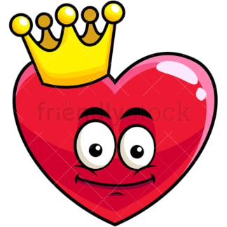 King heart emoticon. PNG - JPG and vector EPS file formats (infinitely scalable). Image isolated on transparent background.