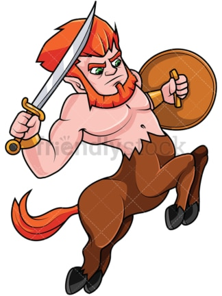 Charging centaur. PNG - JPG and vector EPS file formats (infinitely scalable). Image isolated on transparent background.