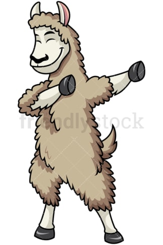 Dabbing llama. PNG - JPG and vector EPS file formats (infinitely scalable). Image isolated on transparent background.