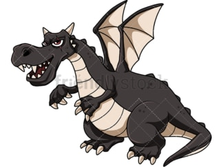 Fierce dragon. PNG - JPG and vector EPS file formats (infinitely scalable). Image isolated on transparent background.