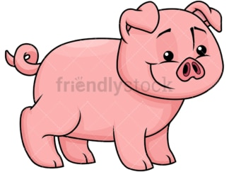 Happy pig. PNG - JPG and vector EPS file formats (infinitely scalable). Image isolated on transparent background.