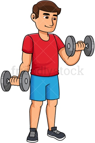 Man lifting dumbbells. PNG - JPG and vector EPS file formats (infinitely scalable). Image isolated on transparent background.