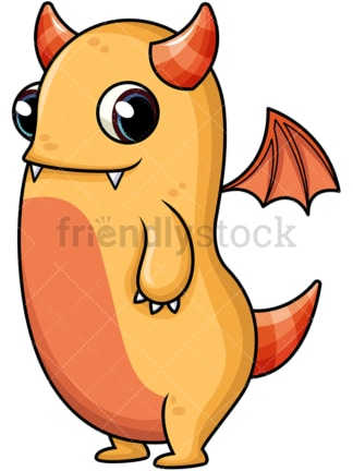 Orange monster. PNG - JPG and vector EPS (infinitely scalable). Image isolated on transparent background.