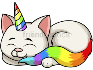 Cute cat unicorn. PNG - JPG and vector EPS file formats (infinitely scalable). Image isolated on transparent background.
