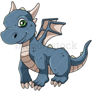 Cute little dragon. PNG - JPG and vector EPS file formats (infinitely scalable). Image isolated on transparent background.