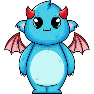 Cute monster. PNG - JPG and vector EPS (infinitely scalable). Image isolated on transparent background.