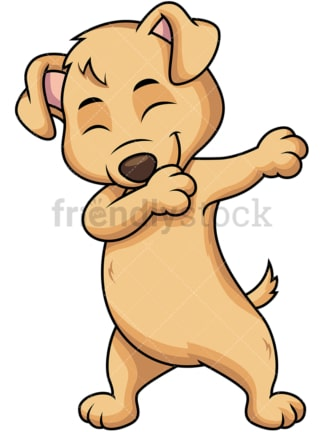 Dabbing puppy. PNG - JPG and vector EPS file formats (infinitely scalable). Image isolated on transparent background.