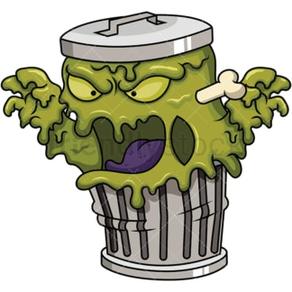 Garbage monster. PNG - JPG and vector EPS (infinitely scalable). Image isolated on transparent background.