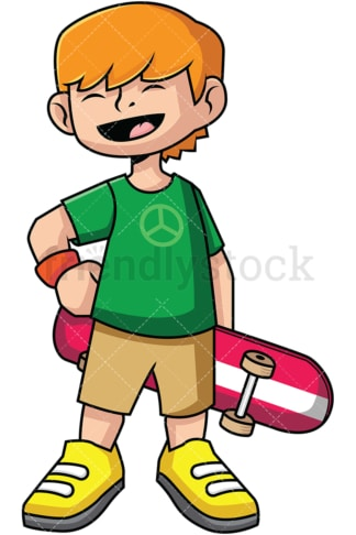 Kid skateboarder. PNG - JPG and vector EPS file formats (infinitely scalable). Image isolated on transparent background.