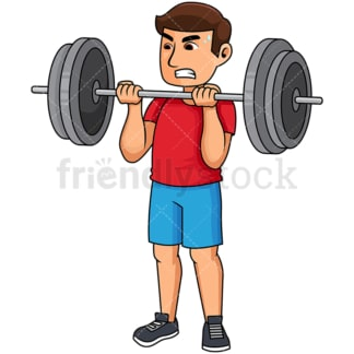 Man lifting heavy barbell. PNG - JPG and vector EPS file formats (infinitely scalable). Image isolated on transparent background.
