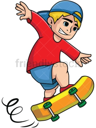 Boy skateboarding. PNG - JPG and vector EPS file formats (infinitely scalable). Image isolated on transparent background.