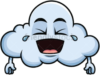 Laughing lol cloud emoticon. PNG - JPG and vector EPS file formats (infinitely scalable). Image isolated on transparent background.