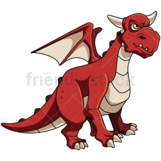 Red dragon. PNG - JPG and vector EPS file formats (infinitely scalable). Image isolated on transparent background.