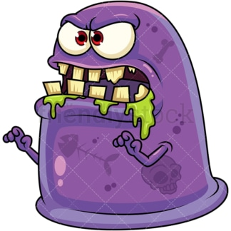 Slime monster. PNG - JPG and vector EPS (infinitely scalable). Image isolated on transparent background.