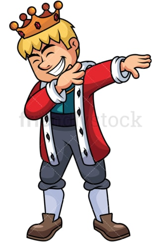 Dabbing king. PNG - JPG and vector EPS file formats (infinitely scalable). Image isolated on transparent background.