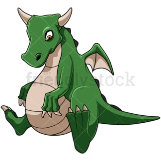 Fat dragon. PNG - JPG and vector EPS file formats (infinitely scalable). Image isolated on transparent background.