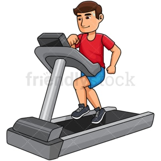 Man exercising on a treadmill. PNG - JPG and vector EPS file formats (infinitely scalable). Image isolated on transparent background.