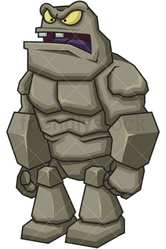 Rock monster. PNG - JPG and vector EPS (infinitely scalable). Image isolated on transparent background.