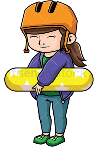 Woman skateboarder. PNG - JPG and vector EPS file formats (infinitely scalable). Image isolated on transparent background.