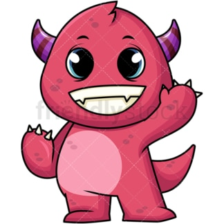 Friendly monster. PNG - JPG and vector EPS (infinitely scalable). Image isolated on transparent background.