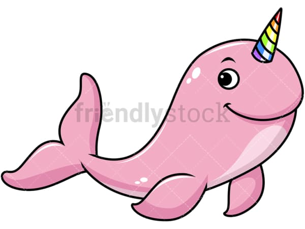 Whale unicorn. PNG - JPG and vector EPS file formats (infinitely scalable). Image isolated on transparent background.