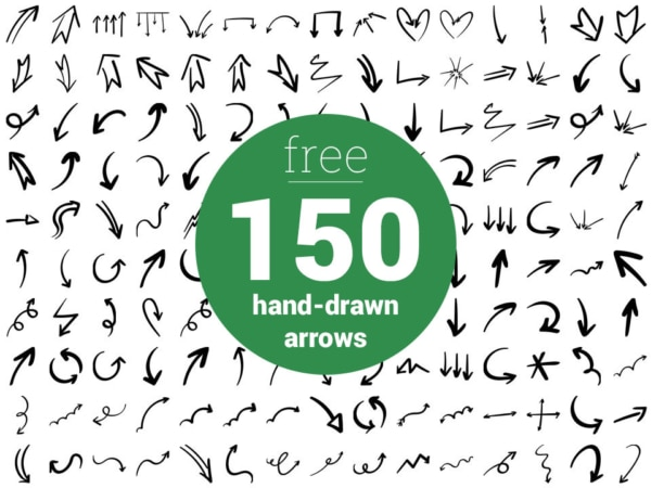 Free Hand Drawn Arrows by FriendlyStock.com