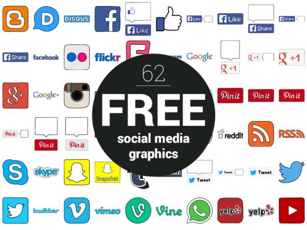 62 Free Social Media Icons, Logos, Graphics