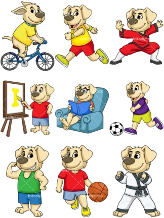 Cute dog character. PNG - JPG and vector EPS file formats (infinitely scalable). Image isolated on transparent background.