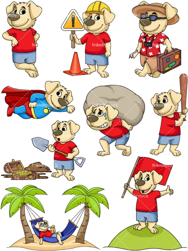 Dog mascot collection. PNG - JPG and vector EPS file formats (infinitely scalable). Image isolated on transparent background.