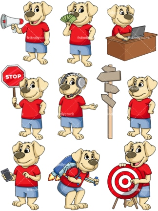 Dog cartoon character. PNG - JPG and vector EPS file formats (infinitely scalable). Image isolated on transparent background.