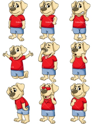 Dog vector character. PNG - JPG and vector EPS file formats (infinitely scalable). Image isolated on transparent background.