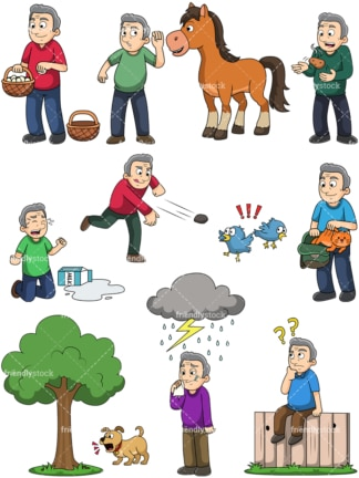 Popular idioms. PNG - JPG and vector EPS file formats (infinitely scalable). Images isolated on transparent background.