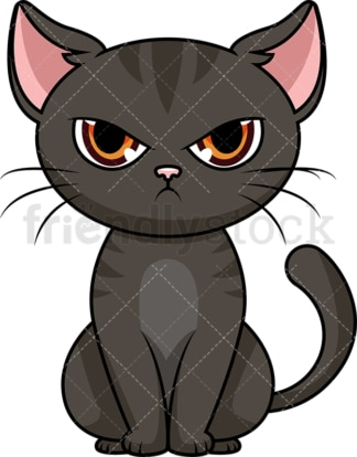 Angry cat. PNG - JPG and vector EPS (infinitely scalable). Image isolated on transparent background.