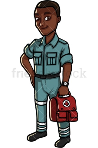 African American male medical professional. PNG - JPG and vector EPS file formats (infinitely scalable). Image isolated on transparent background.